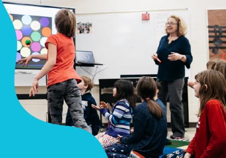 Lumio  - Teacher teaching in a classroom